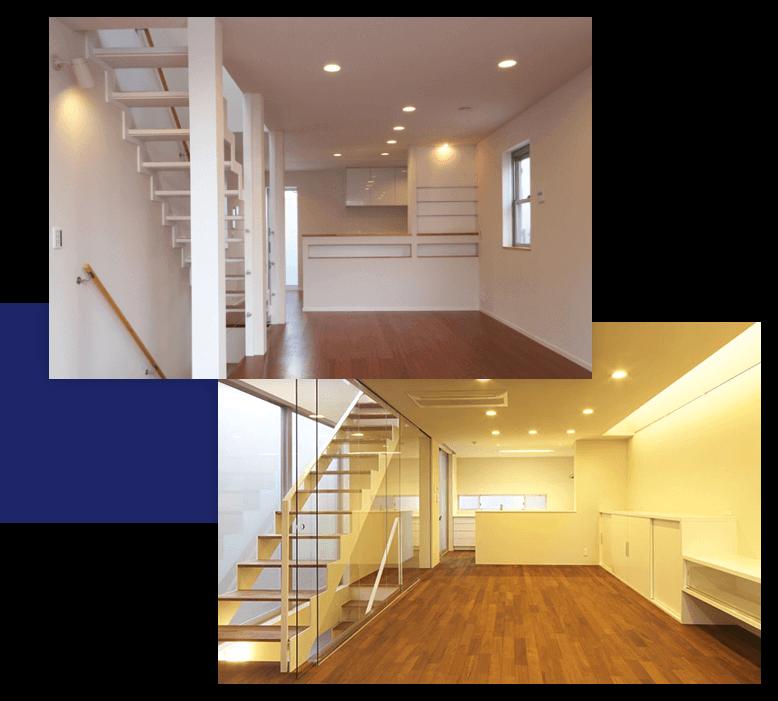 スケルトン階段で広々空間を実現する