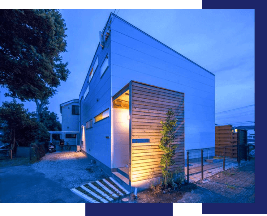 シンプルな外観でもおしゃれな住宅
