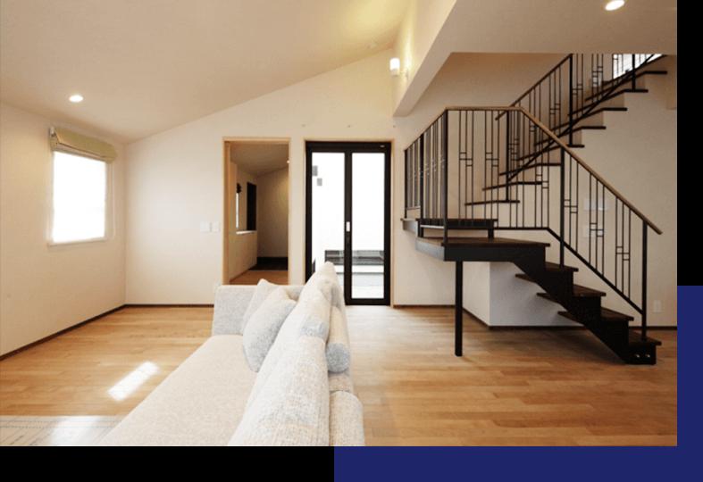 リビング階段でおしゃれ空間を演出する家