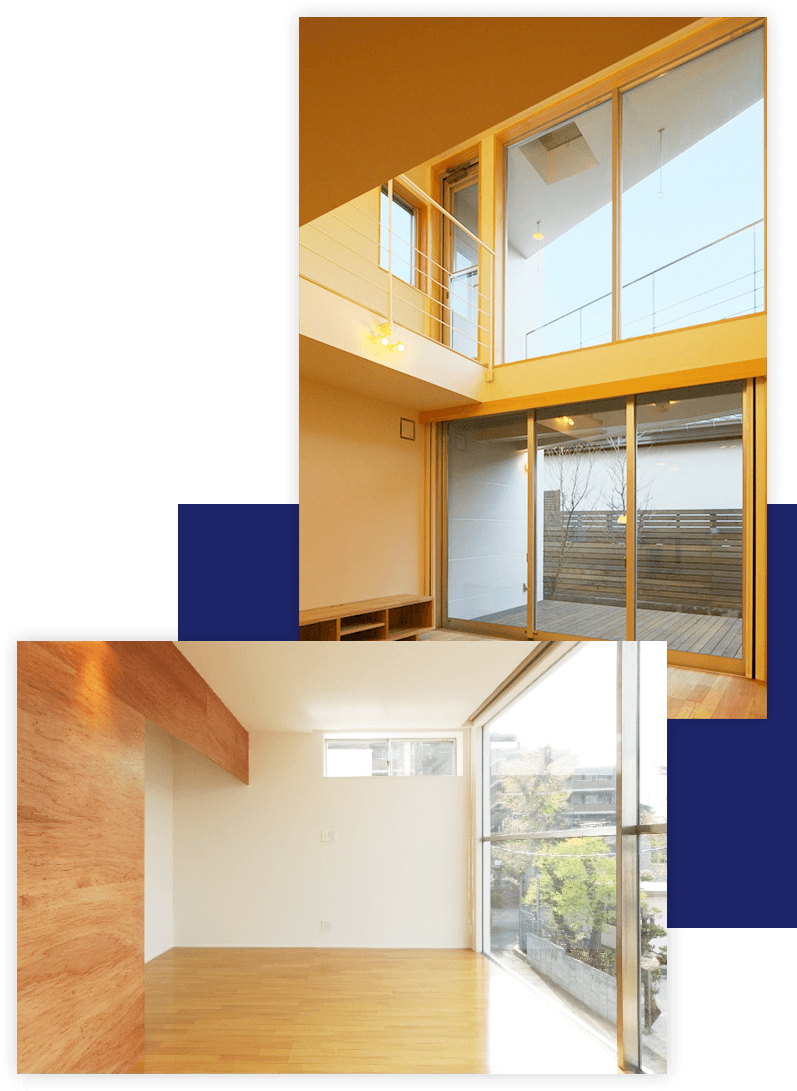 周辺の景観と陽射しを採り入れる窓のある家