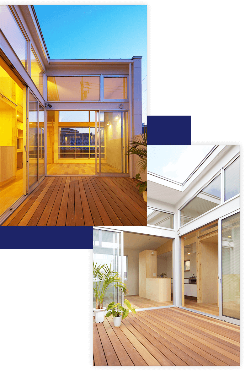 開放的でありながらプライベート感のある空間を持つ家