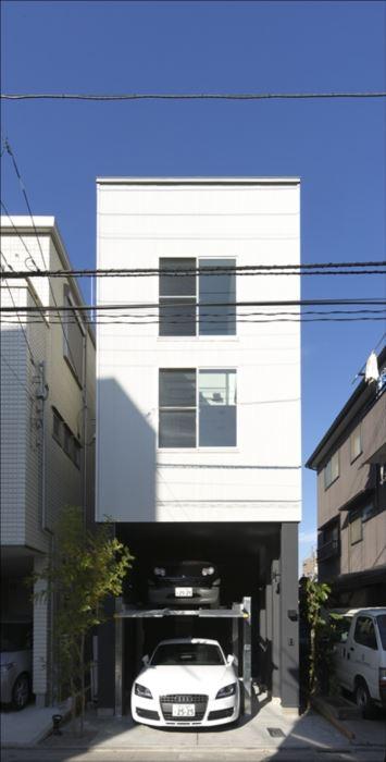 東京,狭小地,狭小住宅,ガレージ