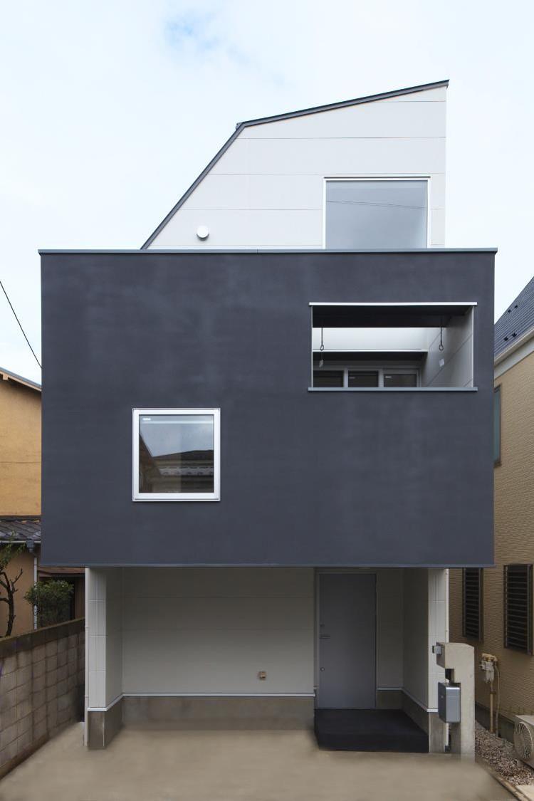 狭小住宅,東京,中庭、外観デザイン