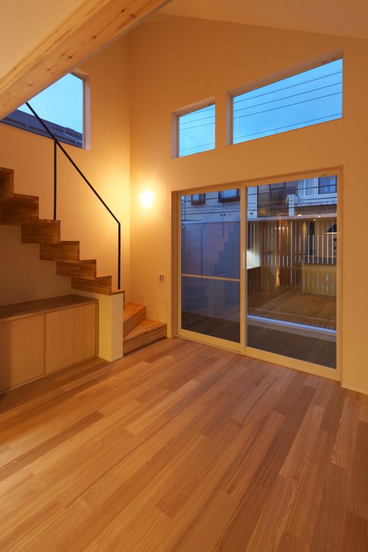 東京,狭小住宅,三階建て住宅,吹き抜け